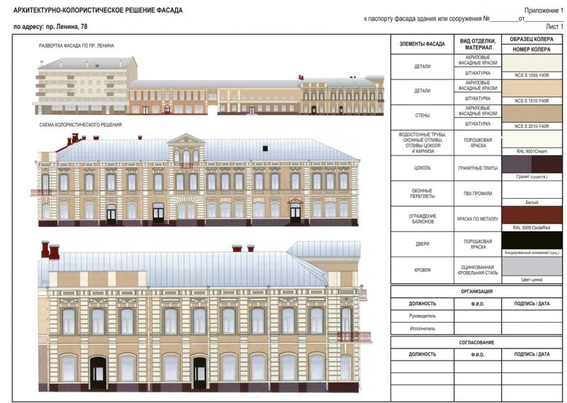Паспорт фасада Томск. Паспорт фасада здания | ЭСЦ.